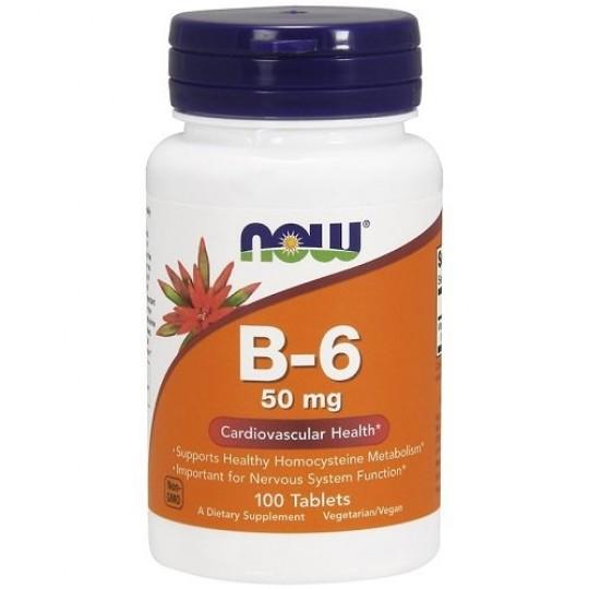 Now foods Vitamin B-6 50 mg 100 таб.
