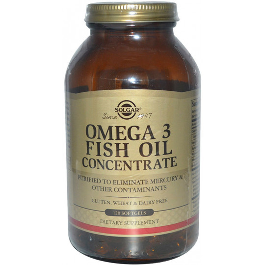 Solgar Omega-3 Fish Oil Concentrate 120 гелевых капсул