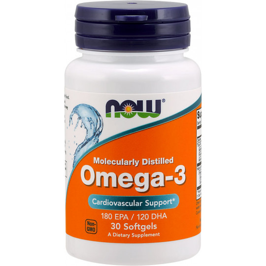 Now Omega 3 1000 мг 30 гелевых капсул