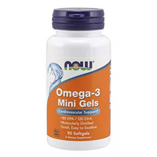 Now Omega 3 Mini Gels 90 гелевых капсул