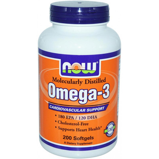 Now Omega 3 1000 мг 200 капсул