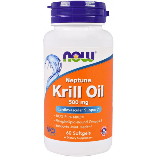 Now Krill Oil Neptune 500 мг 60 гелевых капсул