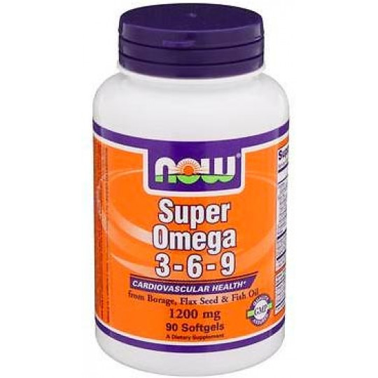 Now Super Omega 3-6-9 1200 мг 90 гелевых капсул