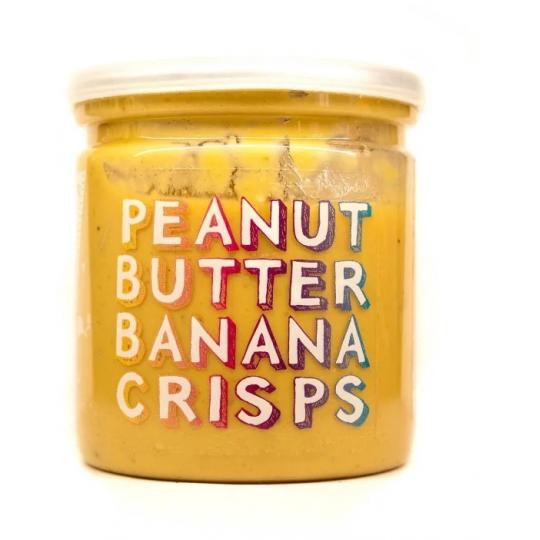 Grizzly Nuts арахисовая паста с банановыми чипсами Banana Crisps 200 г