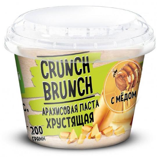 CRUNCH-BRUNCH Арахисовая паста Хрустящая с медом 200 г