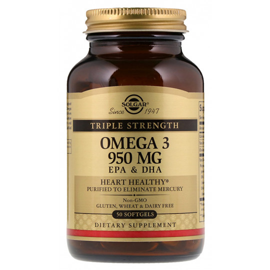 Solgar Omega-3 950 mg EPA & DHA Triple Strength 50 гелевых капсул