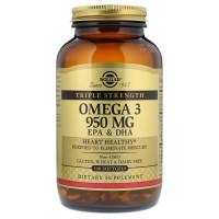 Solgar Omega-3 950 mg EPA & DHA Triple Strength 100 гелевых капсул