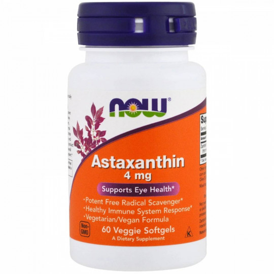 Now foods Astaxanthin 4 mg 90 капс.