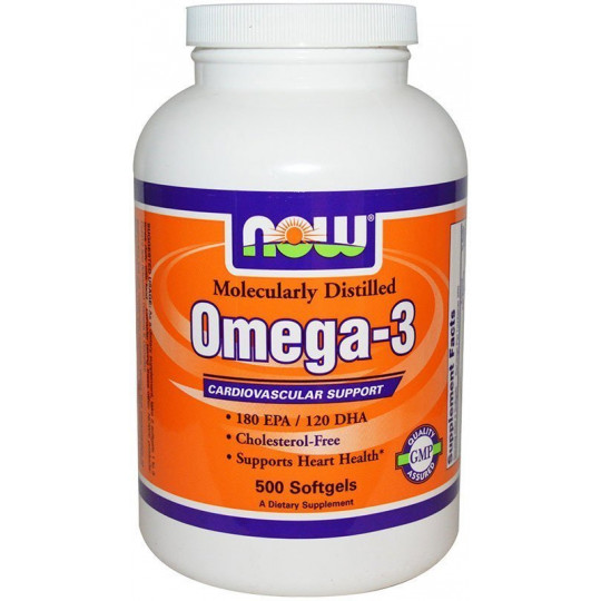 Now Omega 3 1000 мг 500 капсул