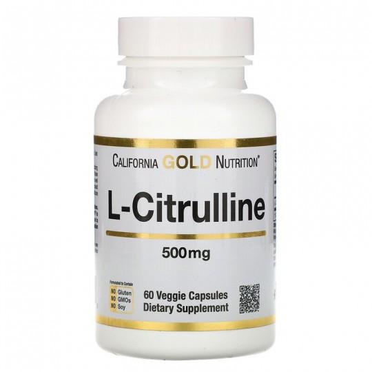 California Gold Nutrition L-цитруллин 500 мг 60 капс