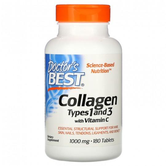 Doctor's Best коллаген collagen types 1 и 3 180 таб.
