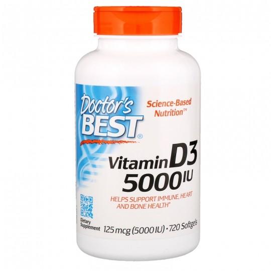 Doctor's Best Витамин D3 5000 МЕ 720 капс.