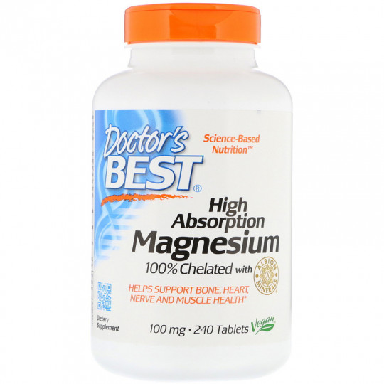Doctor's Best High Absorption Magnesium 100% Chelated 240 таблеток