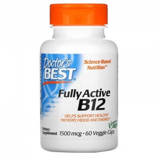 Doctors Best активный витамин B12 (метилкобаламин) 1500 мкг 60 капсул