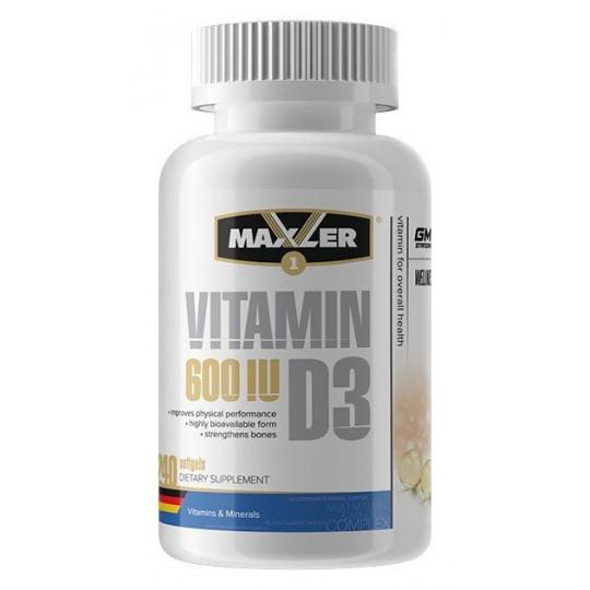 Maxler Vitamin D3 600 IU 240 капс.
