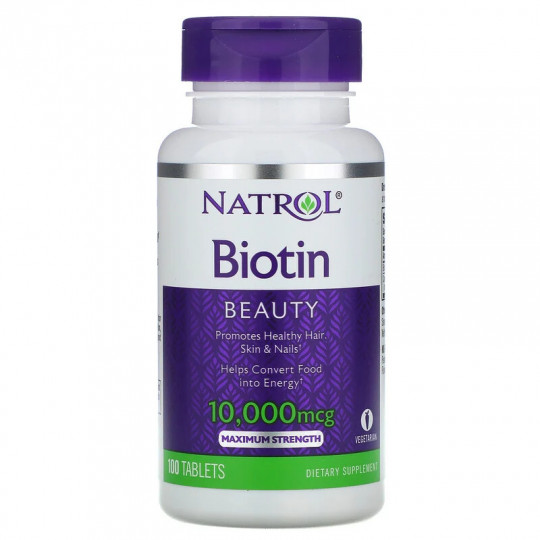 Natrol Biotin 10000 mkg 100 таб.