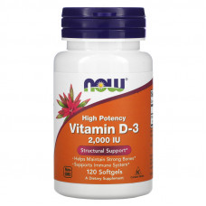 Now foods Vitamin D-3 2000 ME 120 капс.