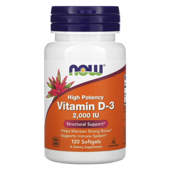 Now foods Vitamin D-3 1000 ME 360 капс.