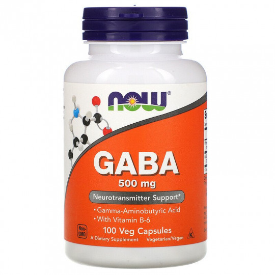 Now Foods ГАМК GABA 500 мг 100 капс