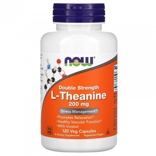 Now Foods L-теанин 200 мг 120 капс