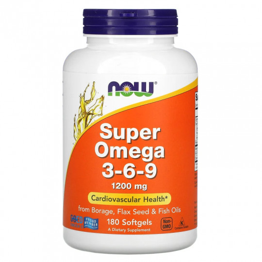 Now foods Super Omega 3-6-9 1200 мг 180 гелевых капсул
