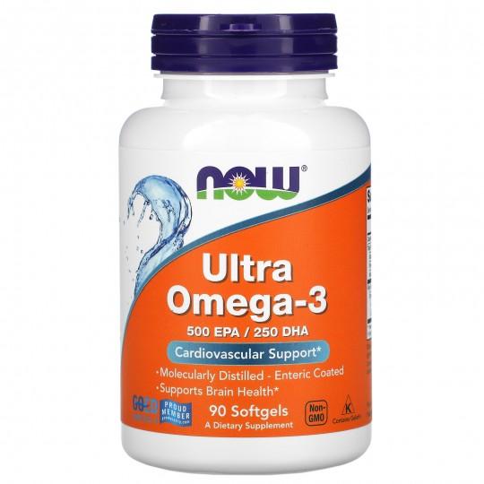 Now foods Ultra Omega-3 90 желатиновых капс.