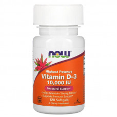 Now foods Vitamin D-3 10000 ME 120 капс.