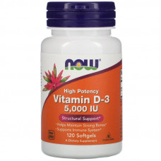 Now foods Vitamin D-3 5000 ME 120 капс.