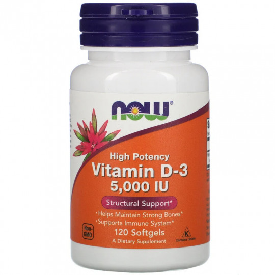 Now foods Vitamin D-3 5000 ME 120 капс.