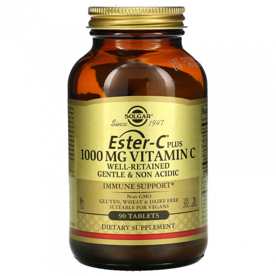 Solgar Ester-C Plus 1000 мг витамина С 90 таблеток