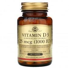 Solgar Vitamin D3 1000 МЕ 180 капс.