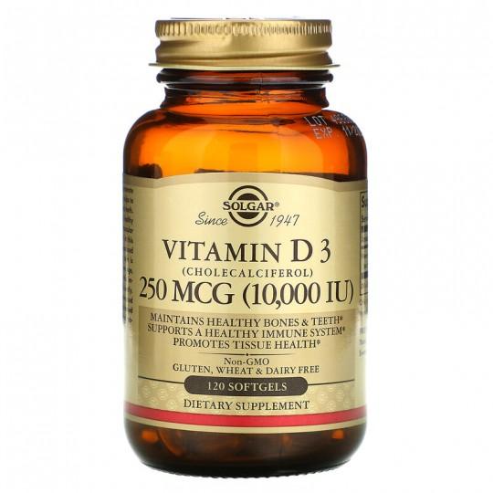 Solgar Vitamin D3 10000 IU МЕ 120 капс.