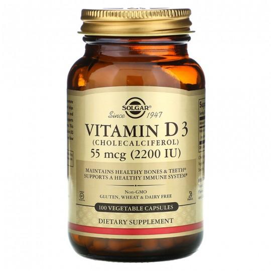 Solgar Vitamin D3 2200 IU МЕ 100 капс.