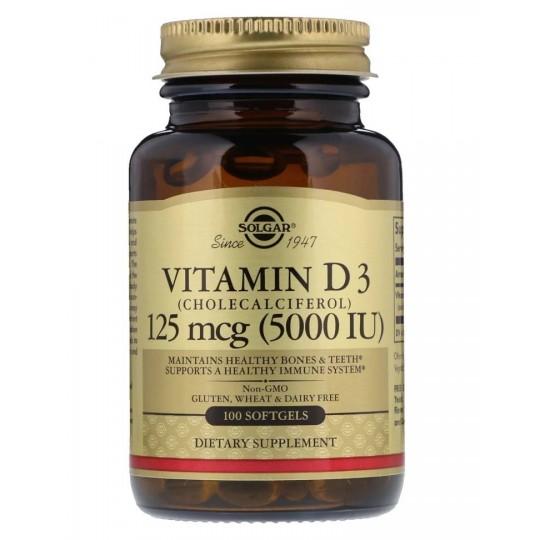 Solgar Vitamin D3 5000 IU МЕ 100 капс.